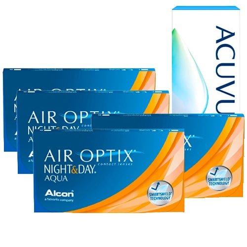 air optix night and day aqua 4 kutu set,air optix night and day lens fiyatı, aylık lens fiyatı, gece gündüz lens fiyatı