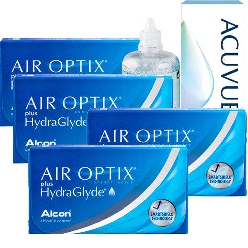 Air Optix Plus HydraGlyde Kampanyalı 4 Kutu, airoptix hydraglade plus lens fiyatı,