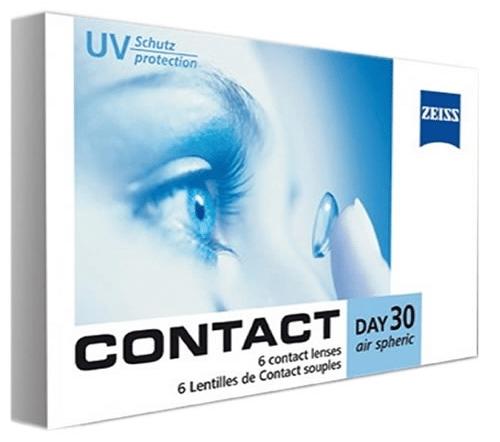 Contact Day 30 Air, zeiss aylık lens fiyatı, zeiss şeffaf lens fiyatı