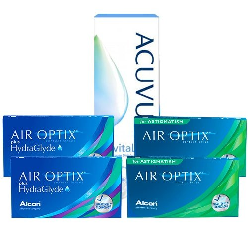 Air Optix HydraGlyde+Air Optix For Astigmatism Set, kampanyalı lens fiyatı
