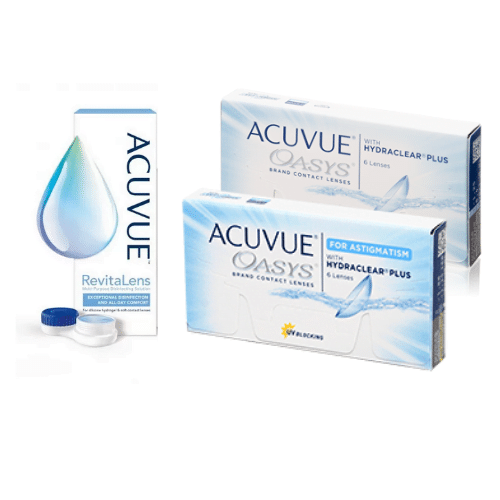 acuvue oasys + acuvue oasys for astigmatism lens