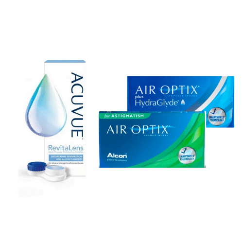 air optix plus hydraglyde + air optix toric